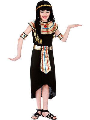 Child Girls Princess Cleopatra Egyptian Queen Fancy Dress Kids Costume Ages (Childs Cleopatra Kostüm)