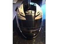 Kabuto Aeroblade III Pearl White crash helmet