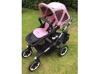Bugaboo Buffalo (Black with Soft pink accessories) all included in the price