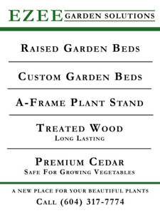 PREMIUM CEDAR - GARDEN BEDS, PLANTER BOXES  AND STANDS