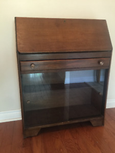 Antique Oak Secretary / book case with drop down desk