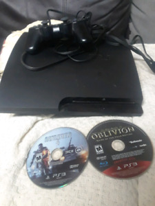 ps3 cheap cheap. few games and one controller