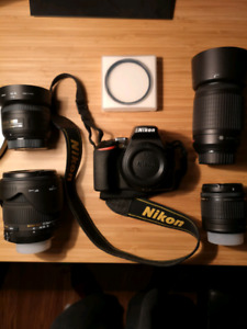 Nikon D3500 +4 lenses great starter kit
