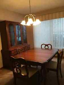 Dining set plus china cabinet