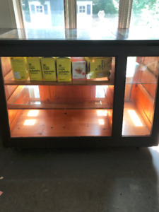 Retro Wooden and Glass Display Counter