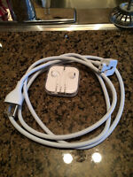 Brand new Apple ear buds and MacBook charger extension chord