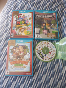 Cheap Nintendo wii U Mario & Minecraft games like new