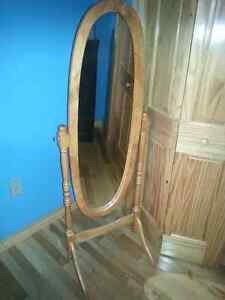 Stand up Oak frame Mirror