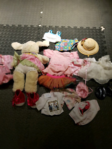 Bunny build a bear and outfits