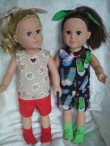 """18 """" Girl doll, Summer outfit"""