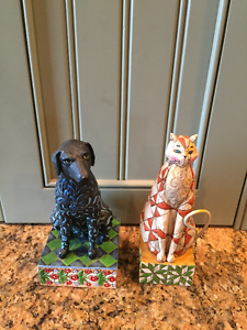 Jim Shore Heartwood Creek Cat & Dog (Limited Items)