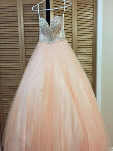 Pink Ballgown with embellished bodice - prom dress