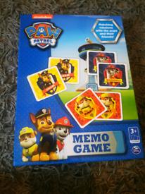 Paw patrol memo card game