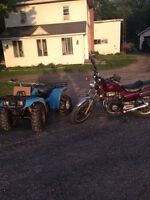 Honda nighthawk and Yamaha Moto4