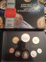 2000 Royal Canadian Mint Voyage of Discovery coin collection Sil