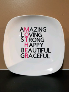 Personalized Mothers Day Plates