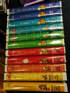 11 Caillou vhs cassette tapes