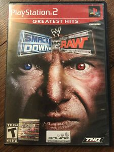 Playstation 2 Game - Smack Down vs. Raw