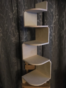 Custom Hanging Corner Shelf