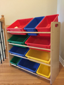 4-Tier Toy Storage Organizer