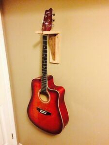 Handcrafted Walnut and Maple Guitar Wall Mount