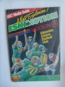 1987-EDMONTON ESKIMOS-Fact Book/Media Guide