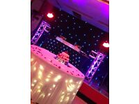 Asian DJ and Dhol / Pop corn candy floss / fruit display / band Baaja / sweet trolly