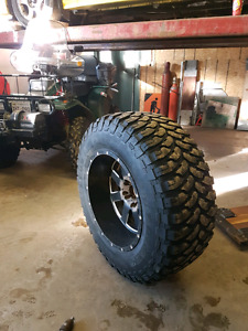 REDUCED 20x12 WHEELS and 37 x13.50 mud tires