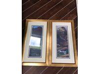 Two framed Giclee prints by Caroline Cooke - Glencoe