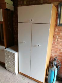 Wardrobe and dressing table set
