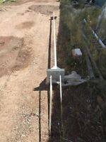 20 foot flag pole with hinged base