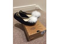 Ladies black Ugg Australia slippers size 5.5