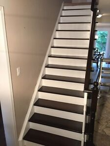 Staircase Refinishing | Stain and Paint Oakville / Halton Region Toronto (GTA) image 1
