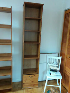 'IKEA Alve' Narrow Bookcase with drawer