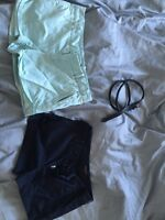 Aritzia Talula shorts + belt Sz 4 (small)