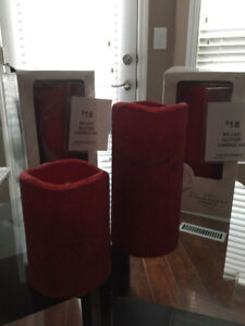 4 Red flameless candles- $40 or best offer