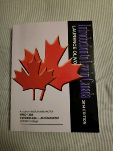 Introduction to Law in Canada 2014 edition - Laurence Olivo