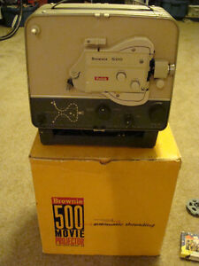 Kodak Brownie 8mm Movie Projector and Screen
