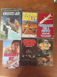 Variety of Military and adventure books..reduced