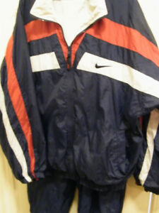 NAVY NIKE NYLON JACKET/PANTS -- RAIN OR SHINE!