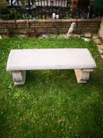 Concrete bench.