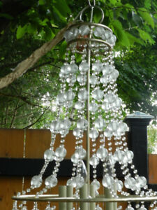NEW Curry+Company 4 FT Multi Tier Glass Chandelier BEST OFFER