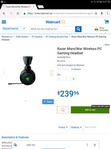 Razer Man'o War Wireless 10/10 (Pc/ps4/xbox one/etc) 150$