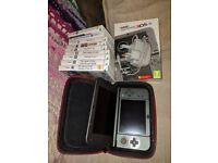 """""""new"""" nintendo 3ds xl - metallic black (boxed) + 9 games + power supply + carry case"""