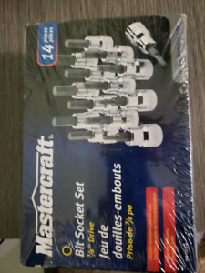 Master craft bit socket set - new