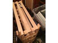 Solid pine 4 tier shoe rack