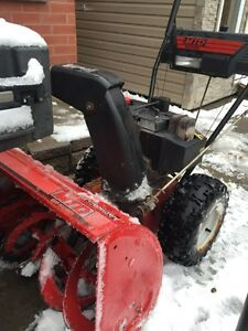 "Snowblower great condition 28"" 10HP 6 speed with light."