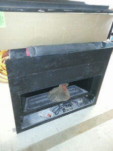 Linear gas fireplace for sale (as is) - natural gas