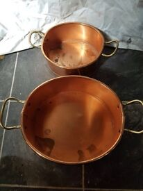 Vintage copper planters Elpec made in england