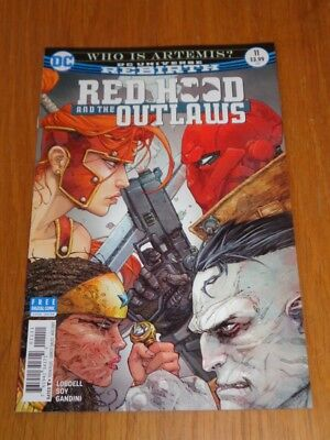 RED HOOD AND THE OUTLAWS #11 DC UNIVERSE REBIRTH AUGUST 2017 VF